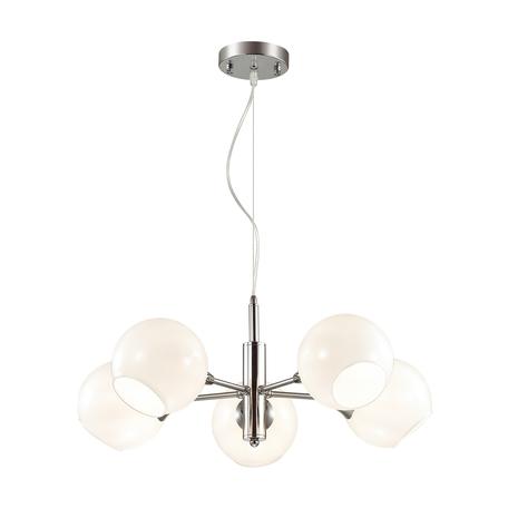 Подвесная люстра Lumion Sophie 3784/5, хром, белый, металл, стекло