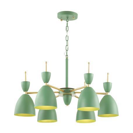 Подвесная люстра Lumion Moderni Gemma 3785/6, 6xE27x60W, зеленый, металл