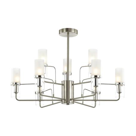 Потолочная люстра Lumion Nevada 4403/9C, никель, хром, матовый, прозрачный, металл, стекло