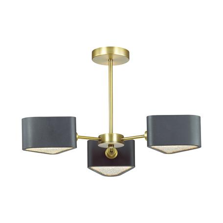 Потолочная люстра Lumion Riven 4406/3C, бронза, черный, металл, стекло