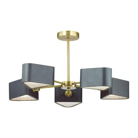 Потолочная люстра Lumion Riven 4406/5C, бронза, черный, металл, стекло