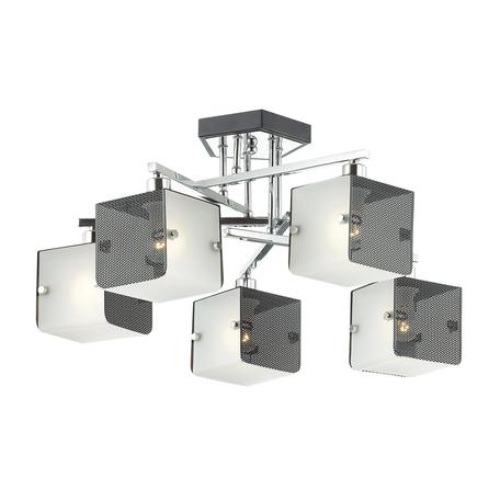 Потолочная люстра Lumion Cubo 4411/5C, хром, черный, белый, металл, стекло