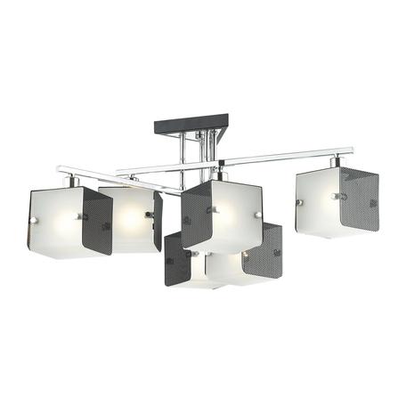 Потолочная люстра Lumion Cubo 4411/6C, хром, черный, белый, металл, стекло