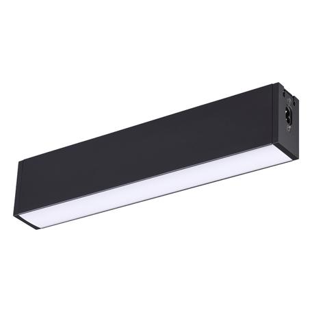Светодиодный светильник для модульной системы Novotech Ratio 358099, LED 6W 4000K 550lm, черный, металл со стеклом/пластиком