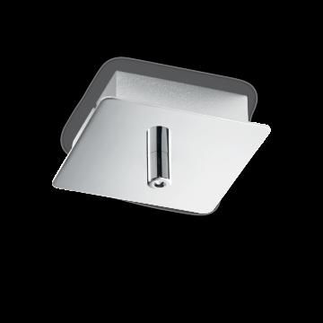База для подвесного монтажа светильника Ideal Lux ROSONE METALLO 1 LUCE SQUARE CROMO 203256, хром, металл