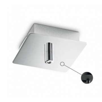 База для подвесного монтажа светильника Ideal Lux ROSONE METALLO 1 LUCE SQUARE NERO 203249