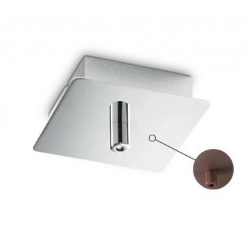 База для подвесного монтажа светильника Ideal Lux ROSONE METALLO 1 LUCE SQUARE MARRONE 203263