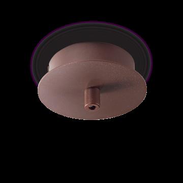 База для подвесного монтажа светильника Ideal Lux ROSONE METALLO 1 LUCE ROUND MARRONE 203270