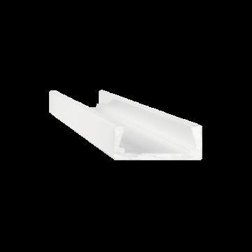 Накладной профиль для светодиодной ленты с рассеивателем Ideal Lux SLOT SURFACE 11 x 2000 mm WH 203089 (SLOT SURFACE 11 x 2000 mm WHITE), белый, металл, пластик
