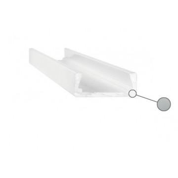 Накладной профиль для светодиодной ленты с рассеивателем Ideal Lux SLOT SURFACE 11 x 2000 mm AL 203072 (SLOT SURFACE 11 x 2000 mm ALUMINUM), серый, белый, металл, пластик