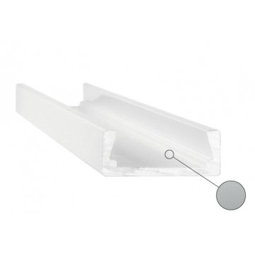 Накладной профиль для светодиодной ленты с рассеивателем Ideal Lux SLOT SURFACE 11 x 3000 mm AL 204581 (SLOT SURFACE 11 x 3000 mm ALUMINUM), серый, белый, металл, пластик