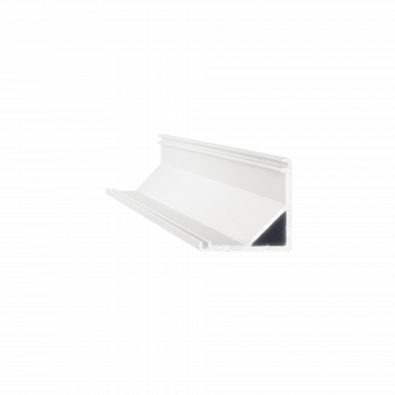 Накладной угловой профиль для светодиодной ленты с рассеивателем Ideal Lux SLOT SURFACE ANGOLO 2000 mm WH 203126 (SLOT SURFACE ANGOLO 2000 mm WHITE), белый, металл, пластик