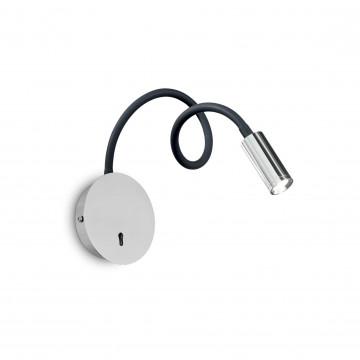 Настенный светодиодный светильник Ideal Lux FOCUS-2 AP CROMO 203188 (FOCUS-2 AP1 CROMO), LED 3W 3000K 130lm, хром, металл