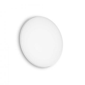 Потолочный светодиодный светильник Ideal Lux MIB PL ROUND 202945 (MIB PL1 ROUND), IP65, LED 20W 4000K 1200lm, белый, металл, пластик