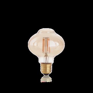 Светодиодная лампа Ideal Lux E27 VINTAGE 04W BOLLA AMBRA 2200K 201283 (VINTAGE E27 4W BOLLA 2200K) Bomb E27 4W (теплый)