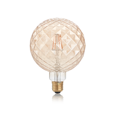 Светодиодная лампа Ideal Lux E27 VINTAGE 04W PEARL AMBRA 2200K 201290 (VINTAGE E27 4W PEARL 2200K) шар E27 4W (теплый) - миниатюра 1