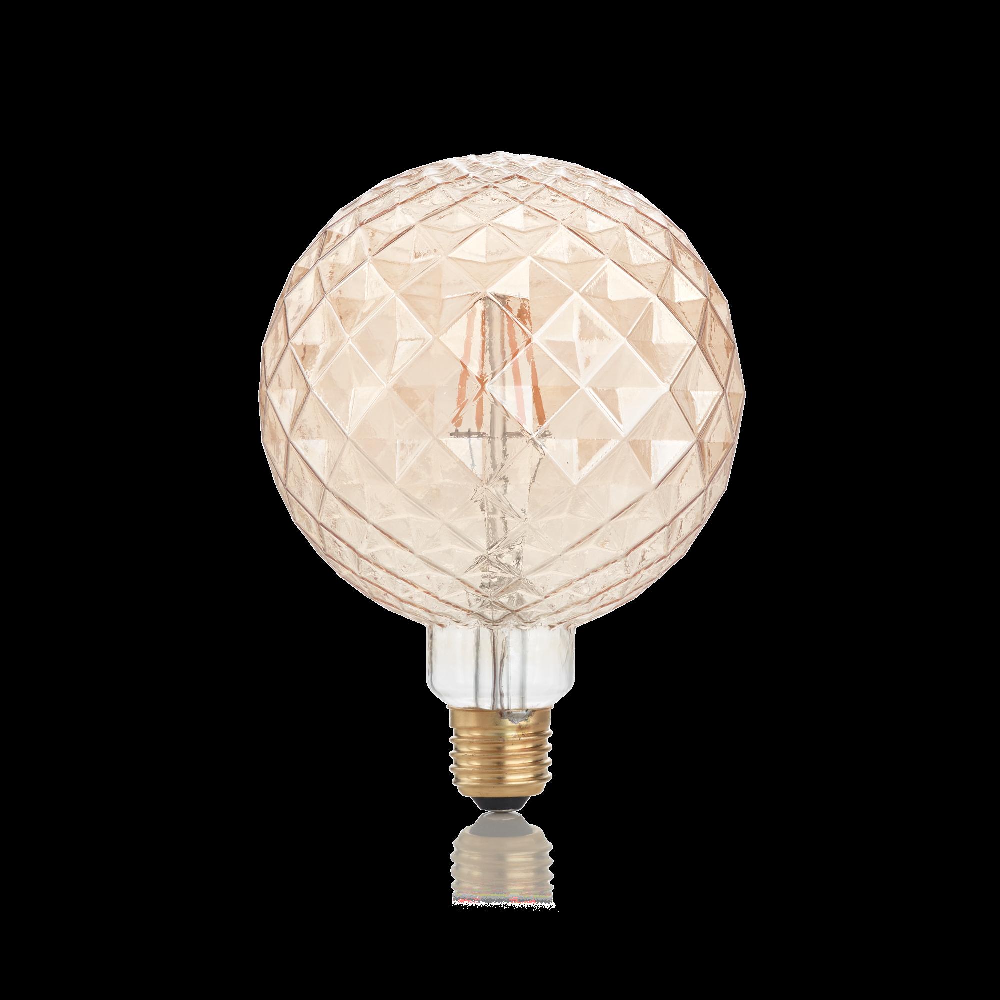 Светодиодная лампа Ideal Lux E27 VINTAGE 04W PEARL AMBRA 2200K 201290 (VINTAGE E27 4W PEARL 2200K) шар малый E27 4W (теплый) - фото 1