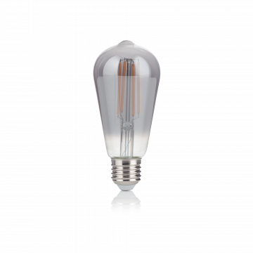 Светодиодная лампа Ideal Lux E27 VINTAGE 04W CONO FUME' 2200K 204451 (VINTAGE E27 4W CONO FUME' 2200K) прямосторонняя груша E27 4W (теплый)
