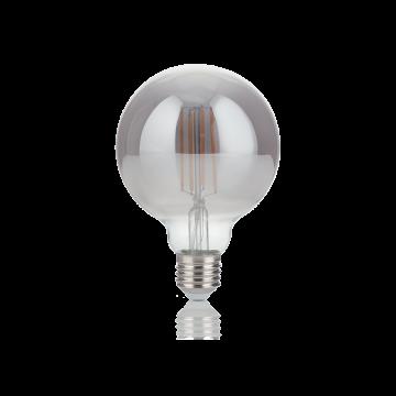 Светодиодная лампа Ideal Lux E27 VINTAGE 04W GLOBO D095 FUME' 2200K 204475 (VINTAGE E27 4W GLOBO SMALL FUME' 2200K) шар E27 4W (теплый)