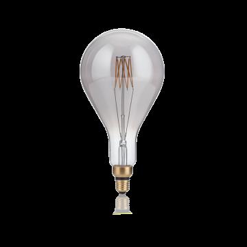 Светодиодная лампа Ideal Lux E27 VINTAGE XL 08W GOCCIA FUME' 2200K 204543 (VINTAGE XL E27 8W GOCCIA FUME' 2200K) капля E27 8W (теплый)