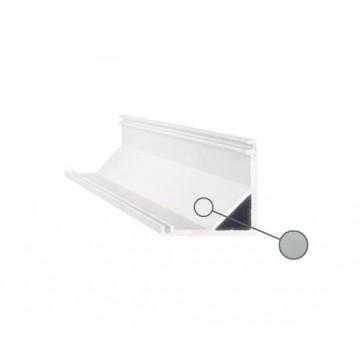 Накладной угловой профиль для светодиодной ленты с рассеивателем Ideal Lux SLOT SURFACE ANGOLO 2000 mm AL 203119 (SLOT SURFACE ANGOLO 2000 mm ALUMINUM), серый, белый, металл, пластик
