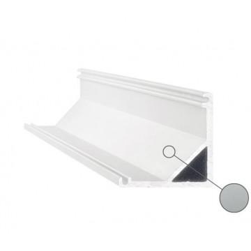 Накладной угловой профиль для светодиодной ленты с рассеивателем Ideal Lux SLOT SURFACE ANGOLO 3000 mm AL 204628 (SLOT SURFACE ANGOLO 3000 mm ALUMINUM), серый, белый, металл, пластик