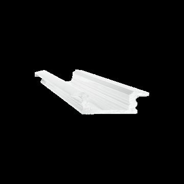 Встраиваемый профиль для светодиодной ленты с рассеивателем Ideal Lux SLOT RECESSED TRIM 12 x 2000 mm WH 203102 (SLOT RECESSED TRIM 12 x 2000 mm WHITE), белый, металл, пластик