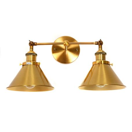 Настенный светильник Lumina Deco Gubi LDW B018-2 MD, 2xE27x40W, матовое золото, металл