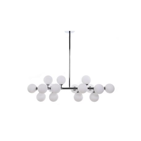 Подвесной светильник Lumina Deco Marsiada LDP 6033-16 CHR, 16xG4x5W, хром, белый, металл, стекло