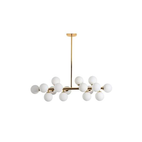 Подвесной светильник Lumina Deco Marsiada LDP 6033-16 GD, 16xG4x5W, золото, белый, металл, стекло