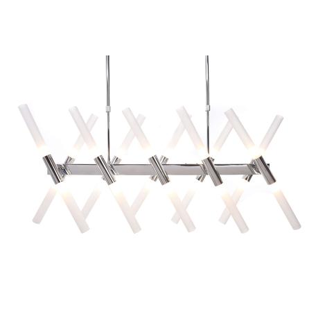 Подвесной светильник Lumina Deco Alford LDP 6036-20 CHR, 24xG9x20W, хром, белый, металл, стекло