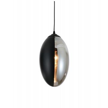 Подвесной светильник Lumina Deco Carlton LDP 6842 BK, 1xE27x40W, черный, прозрачный, металл, стекло