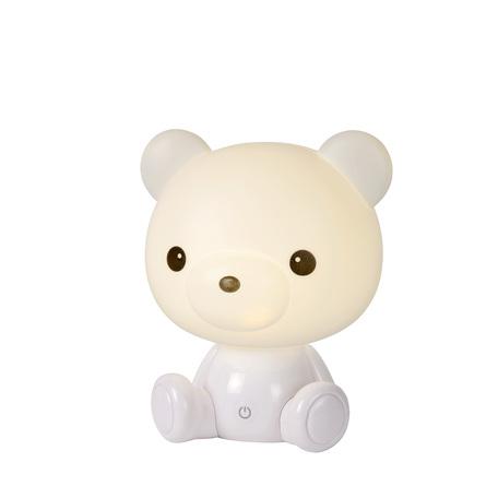 Настольная светодиодная лампа-ночник Lucide Dodo Bear 71590/03/31, LED 3W 70lm CRI80, белый, пластик