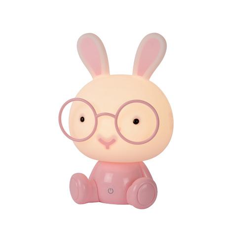 Настольная светодиодная лампа-ночник Lucide Dodo Rabbit 71591/03/66, LED 3W, розовый, пластик