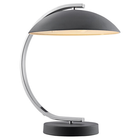 Настольная лампа Lussole LGO Falcon LSP-0559, IP21, 1xE14x40W, черный, хром, металл