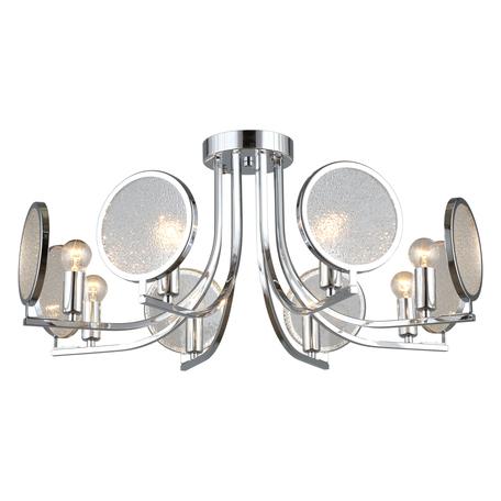 Светильник Omnilux Anzio OML-66107-08, 8xE14x60W, хром, прозрачный с хромом, хром с прозрачным, металл, стекло с металлом