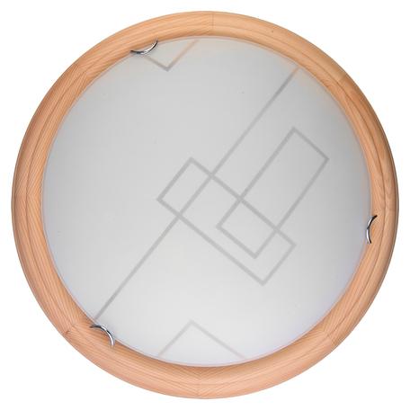 Потолочный светодиодный светильник Toplight Debora TL9540Y-00PN, LED 18W, коричневый, белый, металл, дерево со стеклом