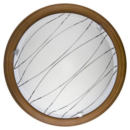 Потолочный светодиодный светильник Toplight Gabrielle TL9610Y-00OA, LED 18W, коричневый, белый, металл, дерево со стеклом