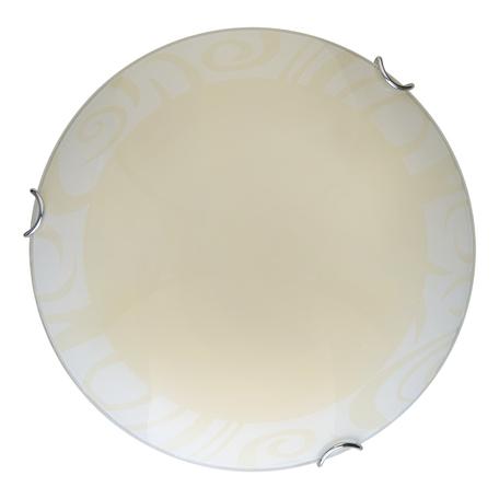 Потолочный светодиодный светильник Toplight Ginger TL9621Y-00WH, LED 18W, хром, бежевый, металл, стекло