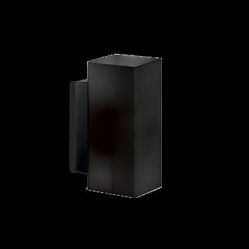 Светильник Ideal Lux Paul AP2 Square 231143, G9x80W, черный, металл, стекло