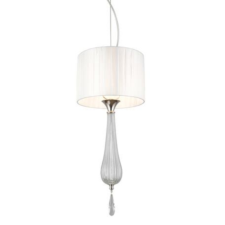 Светильник Aployt Kinia APL.708.06.01, 1xE14x40W, хром с прозрачным, прозрачный с хромом, белый, прозрачный, металл со стеклом, стекло с металлом, текстиль, хрусталь