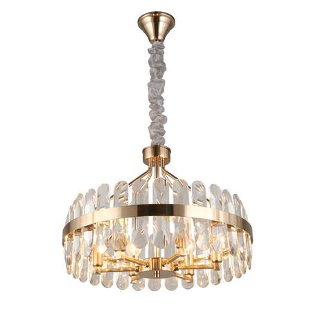 Светильник Aployt Jola APL.749.03.06, 6xE14x40W, бронза, прозрачный с бронзой, бронза с прозрачным, металл, хрусталь с металлом