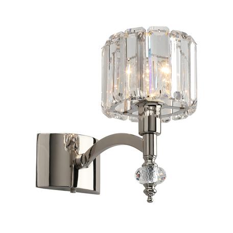 Светильник Aployt Hortens APL.750.01.01, 1xE14x40W, хром с прозрачным, прозрачный, металл с хрусталем, хрусталь