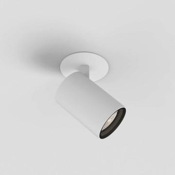 Встраиваемый светильник с регулировкой направления света Astro Aqua 1393007 (6172), 1xGU10x6W, белый, прозрачный, металл, стекло