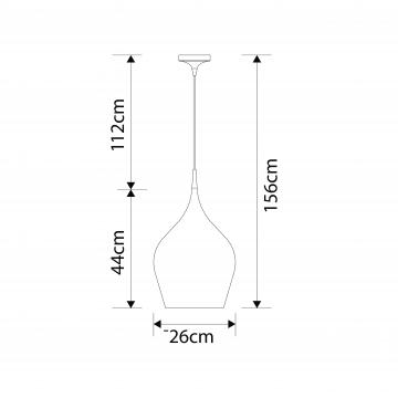 Схема с размерами Arte Lamp A6426SP-1RD