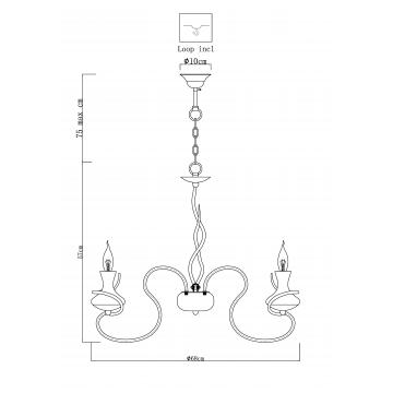 Схема с размерами Arte Lamp A6819LM-8WH