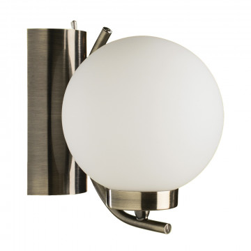 Бра Arte Lamp Cloud A8170AP-1AB, 1xE14x40W, бронза, белый, металл, стекло