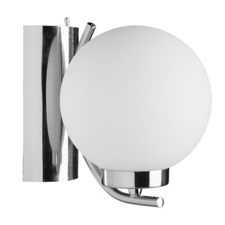 Бра Arte Lamp Cloud A8170AP-1SS, 1xE14x40W, серебро, белый, металл, стекло