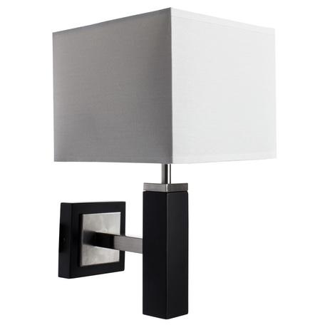 Бра Arte Lamp Waverley A8880AP-1BK, 1xE14x40W, черный с хромом, белый, дерево, текстиль