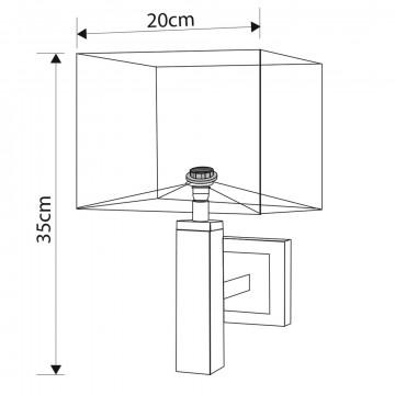 Схема с размерами Arte Lamp A8880AP-1BK